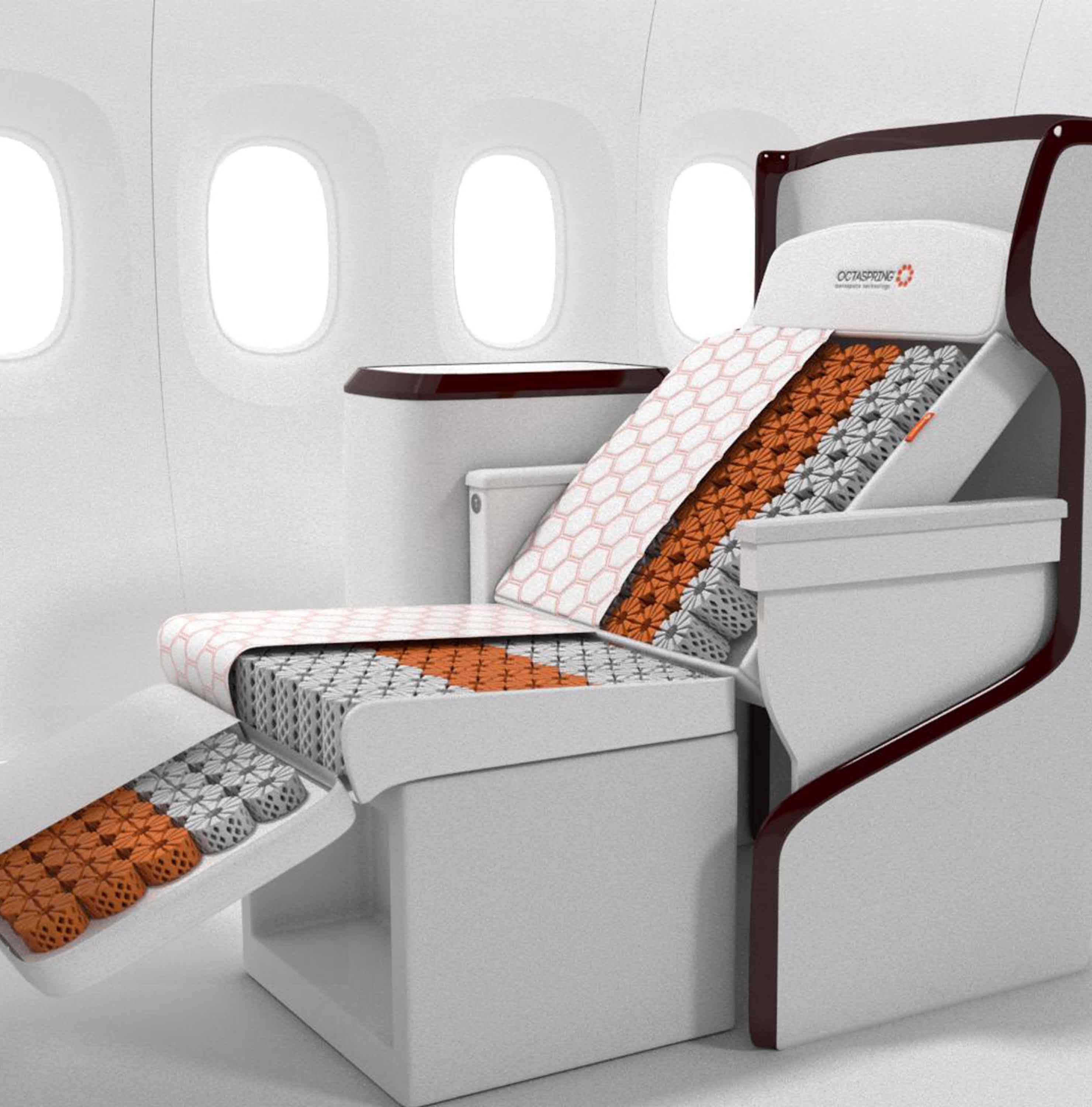 Business class seat cushions